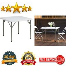 Folding Table Indoor Outdoor Multipurpose Banquet Hall Cafeterias Granite White