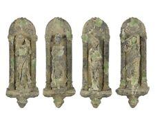 Wandstatuen 4 Jahreszeiten, Garten Figuren, 4 Wandfiguren im Barockstil, Keramik