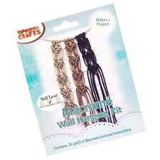 Macramé Wall Hanging Craft Kit with Bonnie Cord for Knotting Décor