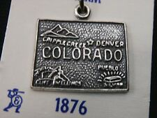 Unique Sterling Silver COLORADO State Pendent/ Charm. Make Offer! #1724
