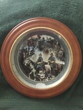 John Paul Strain The Code Of The Cavalry Collector Plate 1709A In Wood Frame