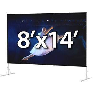 DA-LITE 39313HD - FAST-FOLD DELUXE 8'x14' COMPLETE KIT - DUAL VISION - HD-LEGS