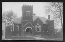 Presbyterian Church Augusta Illinois IL postcard