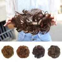 KQ_ Women's Messy Hair Bun Extension Elastic Hair Tie Hairpiece Wig Hair Ring Pr