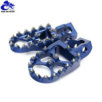 FOOTPEGS Husqvarna CNC RACING Billet 125-610 All Models 2002-2013 BLUE I FP19
