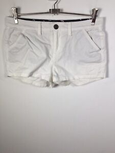 Superdry Women's White Shorts Size XS W30 inch Cotton Good Condition