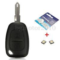 2 Bouton coque clé télécommande pile pour Renault Trafic Vivaro Master Kangoo (