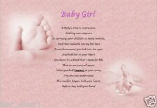 BABY GIRL GIFT - ( laminated gift) new baby