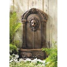 Lion Head Courtyard Water Fountain Garden Decor - New
