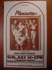 PLEASURE Portland's #1 Funk Band w/ Papa John Creach Paramount Portland, OR MINT