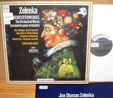 3 LP BOX ARCHIV Zelenka ORCHESTRAL WORKS Holliger TUCKWELL CamerataBern 2710 026