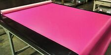 "5 YARDS HOT PINK FAUX LEATHER AUTO UPHOLSTERY FABRIC VINYL 54""W PLEATHER"