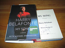 HARRY BELAFONTE signed MY SONG 2011 1st Edition Book COA Calypso DAY-O