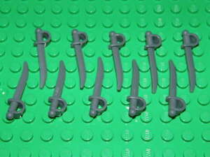 LEGO 10 x SWORD-CUTLASS 2530 WEAPONS-ACCESSORIES FOR MINI PEOPLE/MINIFIGURES