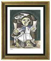 "Pablo Picasso Signed/Hand-Number Ltd Ed ""Mother & Child""  Litho Print (unframed)"