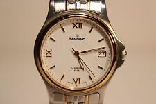 "RETRO SWISS MEN'S ALL STEEL QUARTZ  WATCH WITH SAPPHIRE CRYSTAL GLASS ""CANDINO"""