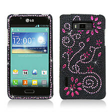 LG Optimus Showtime Crystal Diamond BLING Case Snap On Phone Cover Delight