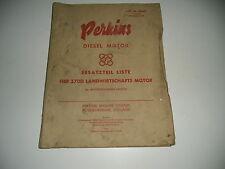 Ersatzteilliste Diesel Motor Fier 270D 12/1958