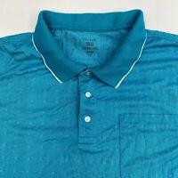 George Polo Shirt Men's Size 3XL XXXL Short Sleeve Blue Casual Golf Cotton Blend