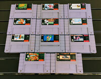 Super Nintendo SNES 11 Game Lot Cleaned Tested Super Mario Donkey Kong Top Gear