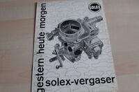 106716) Solex Vergaser - gestern - heute - morgen - Prospekt 196?