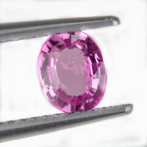 Sapphire 0.63ct. A vivid pink, oval gemstone. Eye clean and mined in Madagascar