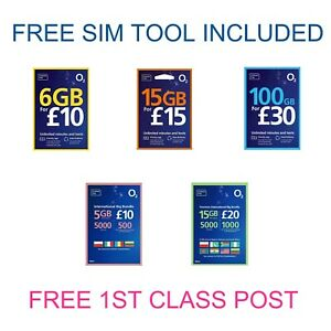 New O2 Sim Card Pay As You Go 02 - All Varieties Choose From The List 20p Only