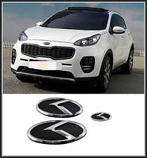 Front Hood /Trunk /Steering Horn K Logo Emblem 3p for KIA Sportage QL (2016~ on)