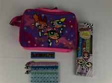 PowerPuff Girls Lot Shoulder Bag Bookbag Book Covers Ruler Pencilcase