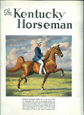 Kentucky Horseman - 3 Issues - 1935 - George Ford Morris Cover & Other Ills.