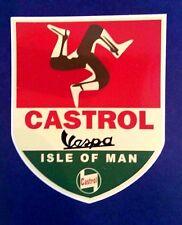 ISLE OF MAN VESPA RALLY Vinyl Decal Sticker CAFE RACER LAMBRETTA CASTROL