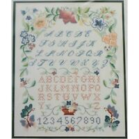 SPRINGTIME SAMPLER Embroidery Kit Michael A LeClair Linen Fabric