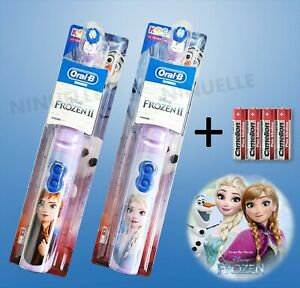 Elektrische Kinder Zahnbürste Kids Oral-B Power Frozen Eiskönigin mit Batterie