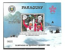 PARAGUAY Sc 2238 NH ISSUE of 1987 S/S Olympics