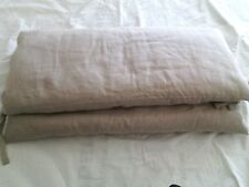 CANTORI coppia cuscini coprisponda testiera letto matrimoniale tessuto Linone
