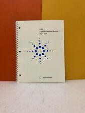 Agilent 8703a Lightwave Component Analyzer Users Guide