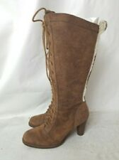 UGG AUSTRALIA BROWN LEATHER WOMEN'S TALL BOOTS, SIZE 6