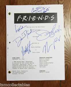 FRIENDS Full CAST signed script Jennifer ANISTON Courtney COX SCHWIMMER