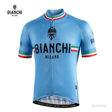 NEW Bianchi Milano ISALLE Short Sleeve Cycling Jersey : AZZURRO