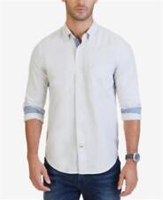 Nautica Classic Fit Oxford Shirt Light Grey Mens Size XXL New