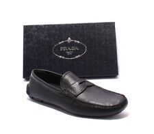 Prada 2DD001 Black Leather Slipper Driver Moccasins Loafers Shoes 42 / US 9