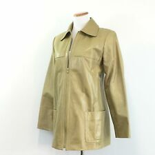 Company Ellen Tracy Womens Leather Jacket Field Coat Style Fully Lined Size 8