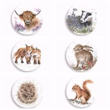 Wrendale Designs Fridge Magnets Boxed Set of 6 animal design hare cow hamster