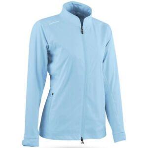 NEW Sun Mountain Women's SMALL Rainflex Golf Jacket Blue Waterproof Golf Rain