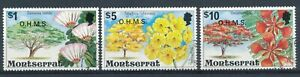 Flowering Trees optd O.H.M.S $1, $5 & $10 - Montserrat Official 1980 - F H