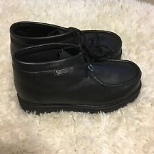New Buffalino Youth Boy Genuine Leather Dress Boots Size Us 4 Color Black