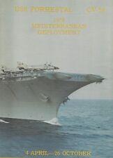 ☆* USS FORRESTAL CV-59 MEDITERRANEAN DEPLOYMENT CRUISE BOOK YEAR LOG 1978 *☆