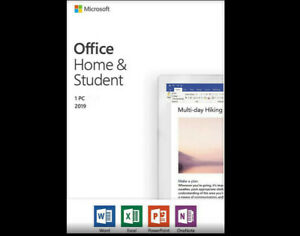 Home and student 2019 for PC. Classic 2019/ versions of Word, Excel, PowerPoint