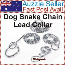 40cm Silver 3.0mm Snake Collar Chain for Dogs (choker chain use pet/show dog)