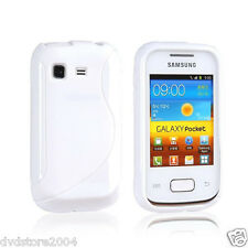 Pellicola + Custodia cover case WAVE BIANCA per Samsung Galaxy Pocket S5300